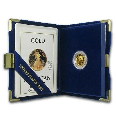 1990-P 1/10 oz Proof Gold American Eagle (w/Box & COA) - SKU #4923