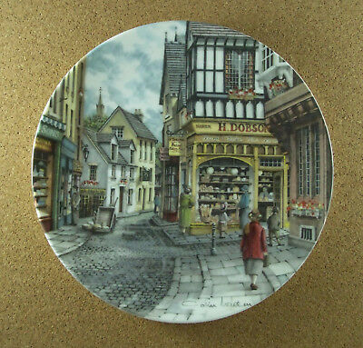 Window Shopping THE BAKER'S SHOP Plate #4 Colin Warden Royal Doultan HTF