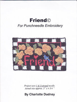 Charlotte Dudney  Friends  Punch needle embroidery pattern on cloth