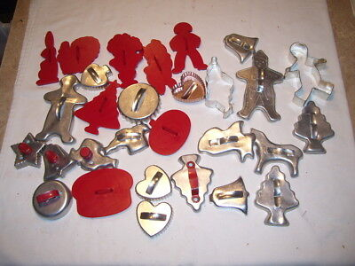 Lot of Vintage Kitchen Aluminum and Plastic Cookie Cutters Some Christmas
