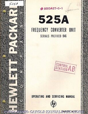 HP Manual 525A FREQUENCY CONVERTER UNIT