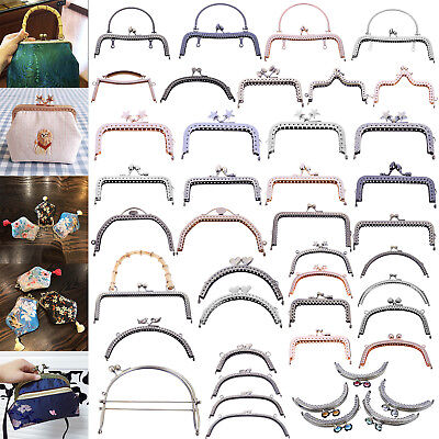 19Style Lots Metal Kiss Clasp Handle Handbag Purse Bag Frame DIY Craft Lock Gift