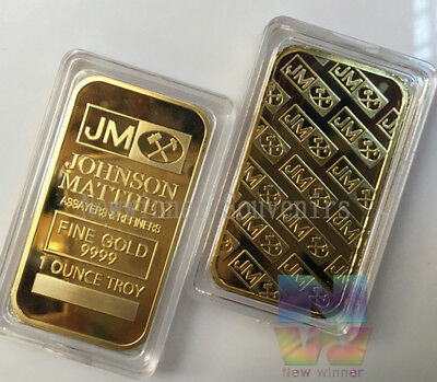 1 Ounce Gold Plated Novelty Bar
