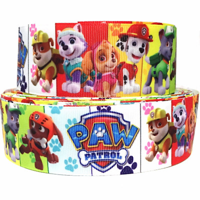 "GROSGRAIN RIBBON 7/8"", 1.5"" & 3"" Paw Patrol Printed P14 (COMBINE SHIPPING)"