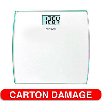 Taylor 200kg 440lbs Digital Glass Electronic Bathroom Scale Non Slip/Body Weight