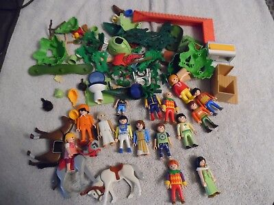 Playmobil Lot, Figures Horse's Misc Parts