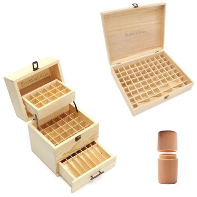 Essential Oils Wood Wooden Storage Box Single 59 74 Slots 5ml 10ml 15ml Bottle