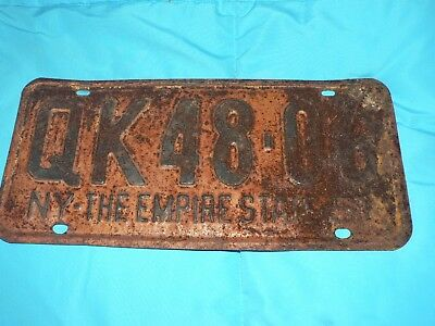 Vintage New York License Plate 1951 Nice Condition just surface pitting Solid