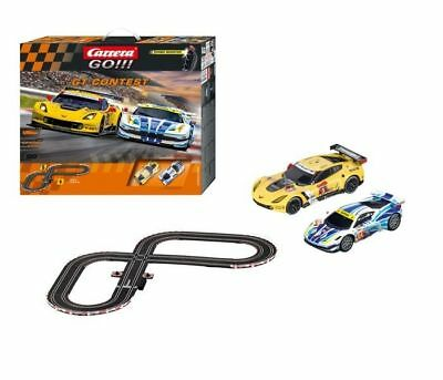 Corvette C7.R & Ferrari 458 Italia GT Carrera GO 1:43 Slot Car Racing Track Set
