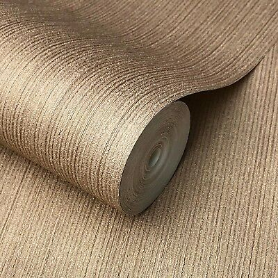 Wallpaper roll textured Vinyl Non-Woven wall coverings Cocoa Gold Cooper Plain