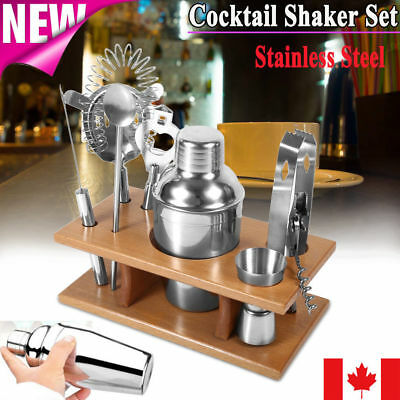 8X Stainless Steel Cocktail Shaker Mixer Drink Bartender Martini Tools Bar Set