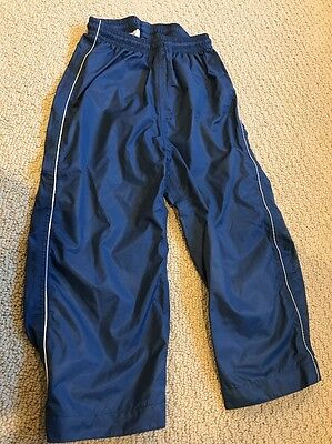 REI Blue Nylon Rain Pants 3T Barely Used With Reflective Sides