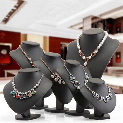 Mannequin Bust Jewelry Necklace Pendant Show Case Display Stand Holder 6 Sizes