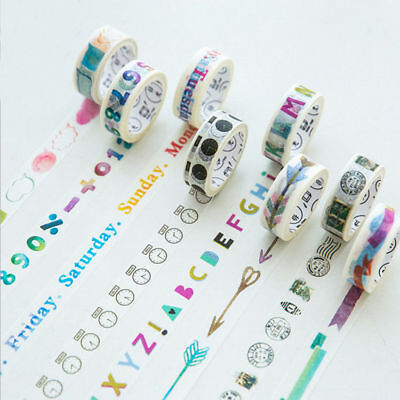 Multi Function Washi Tapes Adhesive Paper Labels Scrapbook Craft Decoration DIY