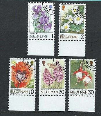 Isle of Man Fine Used FU 1998 Flower Definitives 1p to 30p Flower Flora Botany
