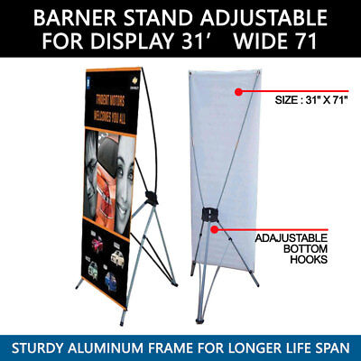 "(LOT OF 2) Banner X Stand 31"" x 71"" Bag Trade Show Display Advertising"