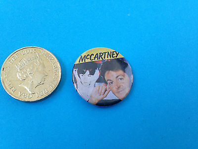 Paul McCartney early 80s button badge