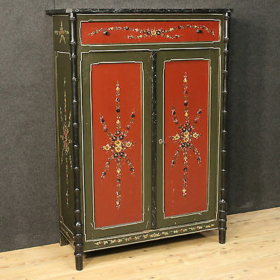 Closet cabinet cupboard wood painted antique style furniture dutch 900