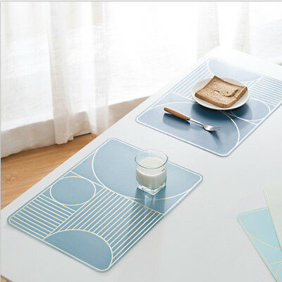 Geometry Placemat Table mats Simple Waterproof Creative Insulation pads Heat pad