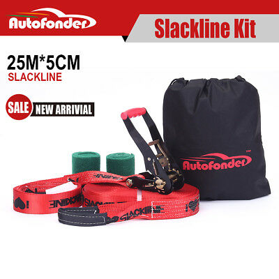Autofonder Slackline Base Line Balance Line Entry Level Kit With tree protector