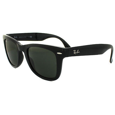 33850f8bdc Ray-Ban Sunglasses Folding Wayfarer 4105 Black Green 601 Medium 50mm