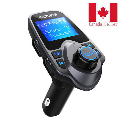 Bluetooth Car FM Transmitter Wireless Adapter USB Charger Mp3 Player CANADA