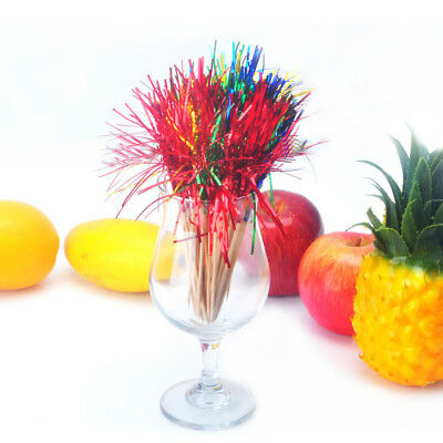 50x Cocktail Sticks Juice Drink Ice-Cream Canape Picks Decor Bar Fireworks Party