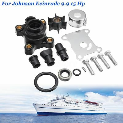 Water Pump Impeller Kit for Johnson Evinrude 9.9 15 Hp Outboard 391698 394711 SK