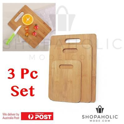 Set of 3 Moso Bamboo Chopping Serving Boards