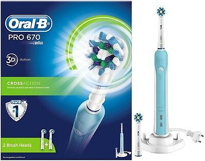 Oral-B PRO 670 Cross Action Rechargeable Electric Toothbrush Original /Brand New