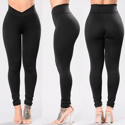 US STOCK Women Tights Fitness Pants Running Sports Gym Yoga Base Layer Pants#