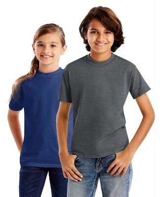 Hanes Heavyweight Beefy-T Kids/Youth/Boys T-Shirt Basic Jersey Blank Tee NEW