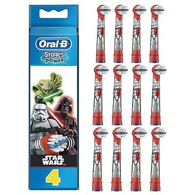 Oral-B Power Kids Stages Star Wars Electric Replacement Toothbrush Heads Pack 4