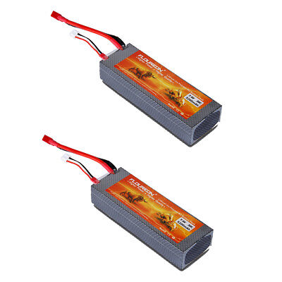 2×2S 7.4V 5200mAh 30C LiPo Battery T Plug Hard Case For RC Helicopter Car Truck