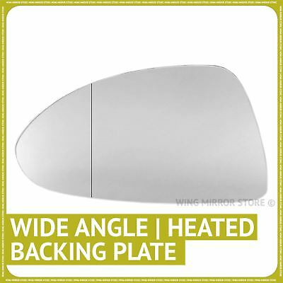 Left side for Vauxhall Corsa D 06-14 Wide Angle heated wing mirror glass + plate