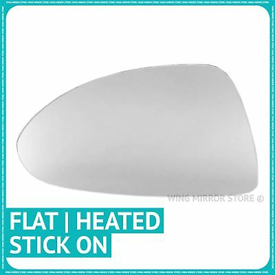 Left hand passenger side for Vauxhall Corsa 14-16 Flat heated wing mirror glass