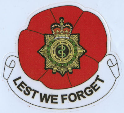 Lest We Forget Royal Australian Army Medical Corps Vinyl Sticker 94Mm High