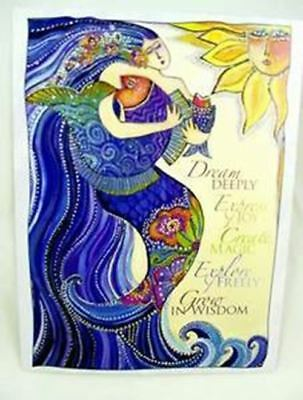 "Laurel Burch Inspirational Card - ""Mermaid Ocean Song"" With Envelope"