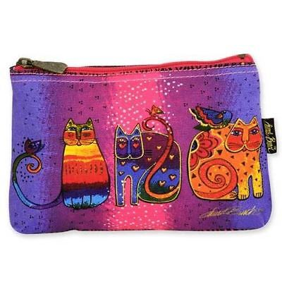 Laurel Burch Cotton Canvas Small Cosmetic Bag Cat Tails Makeup Bag