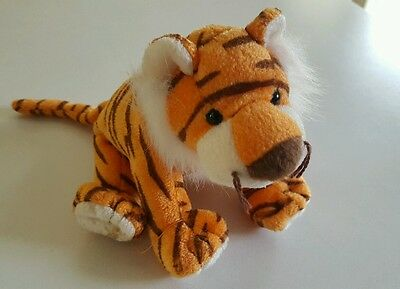 """Retired 2008 TY BEANIE BABIES 2.0 Plush Shimmery 7"""" OASIS The TIGER Jungle Cat"""