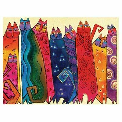Laurel Burch Canvas Santa Fe Felines Cats 12x16 Wall Art