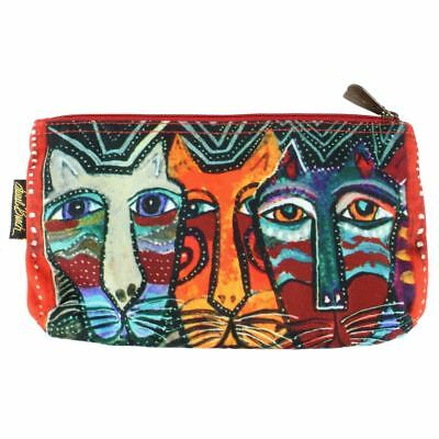Laurel Burch 10x6 Large Cosmetic Bag Gatos Cat Makeup Bag