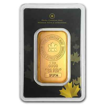 1 oz Gold Bar - Royal Canadian Mint (Old Style, In Assay) - SKU #72805