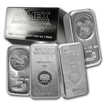1 kilo Silver Bar - Secondary Market - SKU #75361