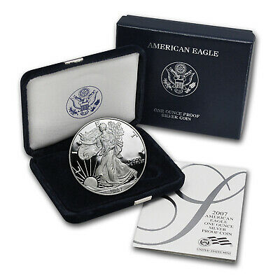 2007-W 1 oz Proof Silver American Eagle (w/Box & COA) - SKU #24309