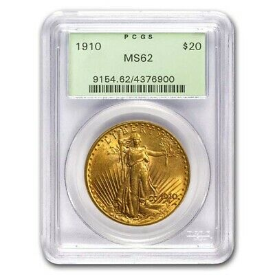 1910 $20 Saint-Gaudens Gold Double Eagle MS-62 PCGS - SKU #21608