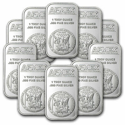 1 oz Silver Bar - APMEX (Lot of 10) - eBay - SKU #81774