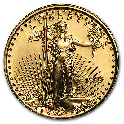 1997 1/10 oz Gold American Eagle BU - SKU #7446