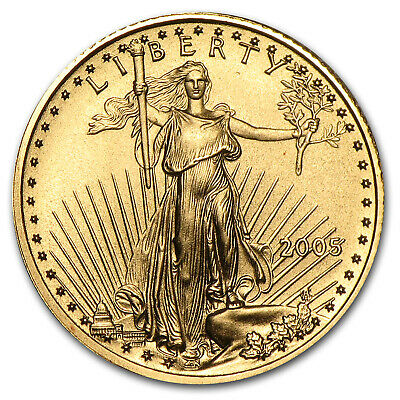 2005 1/10 oz Gold American Eagle BU - SKU #4241
