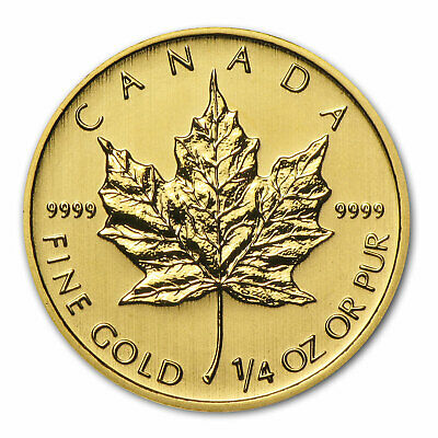 2014 Canada 1/4 oz Gold Maple Leaf BU - SKU #79041